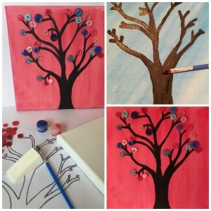 Button Tree Collage