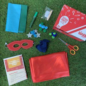 superhero red cape kit felt scissors embelishments