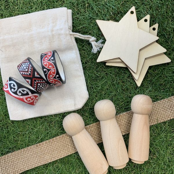 Te Reo crafts wooden dolls and matariki stars