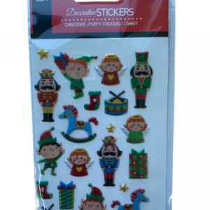 Elf and Nutcracker stickers