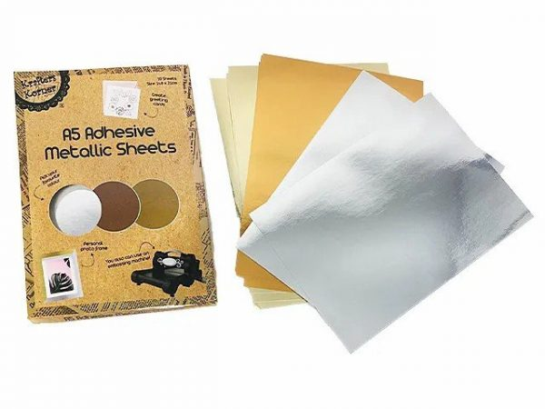 metallic adhesive sheets bright colours 10 sheets