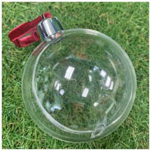 fillable bauble glass bauble