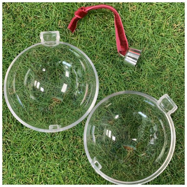 glass photoframe bauble