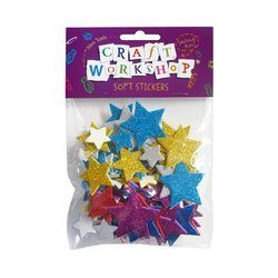 star foam glitter stickers
