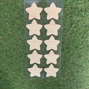 bamboo star stickers 10 pcs