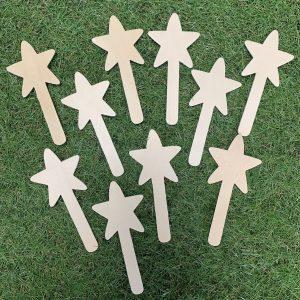 wooden star wands