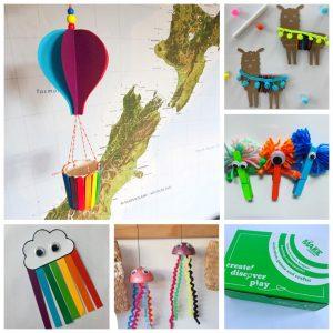 rainbow craft box