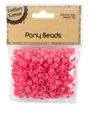Pony Pink Beads