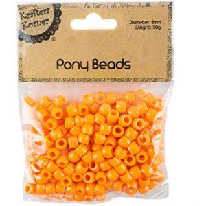 Orange Pony Beads