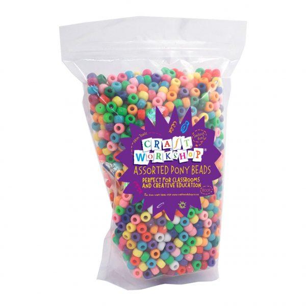 multi pony beads